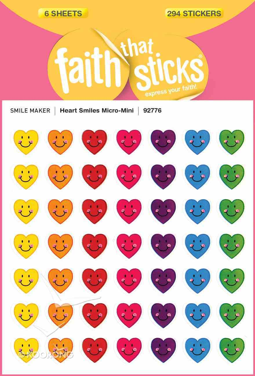 Heart Smiles Micro-Mini (6 Sheets, 294 Stickers) (Stickers Faith That Sticks Series) Stickers