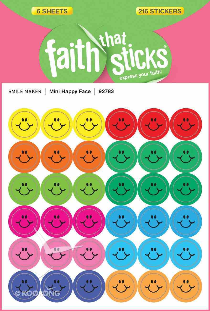 Mini Happy Face (6 Sheets, 216 Stickers) (Stickers Faith That Sticks Series) Stickers
