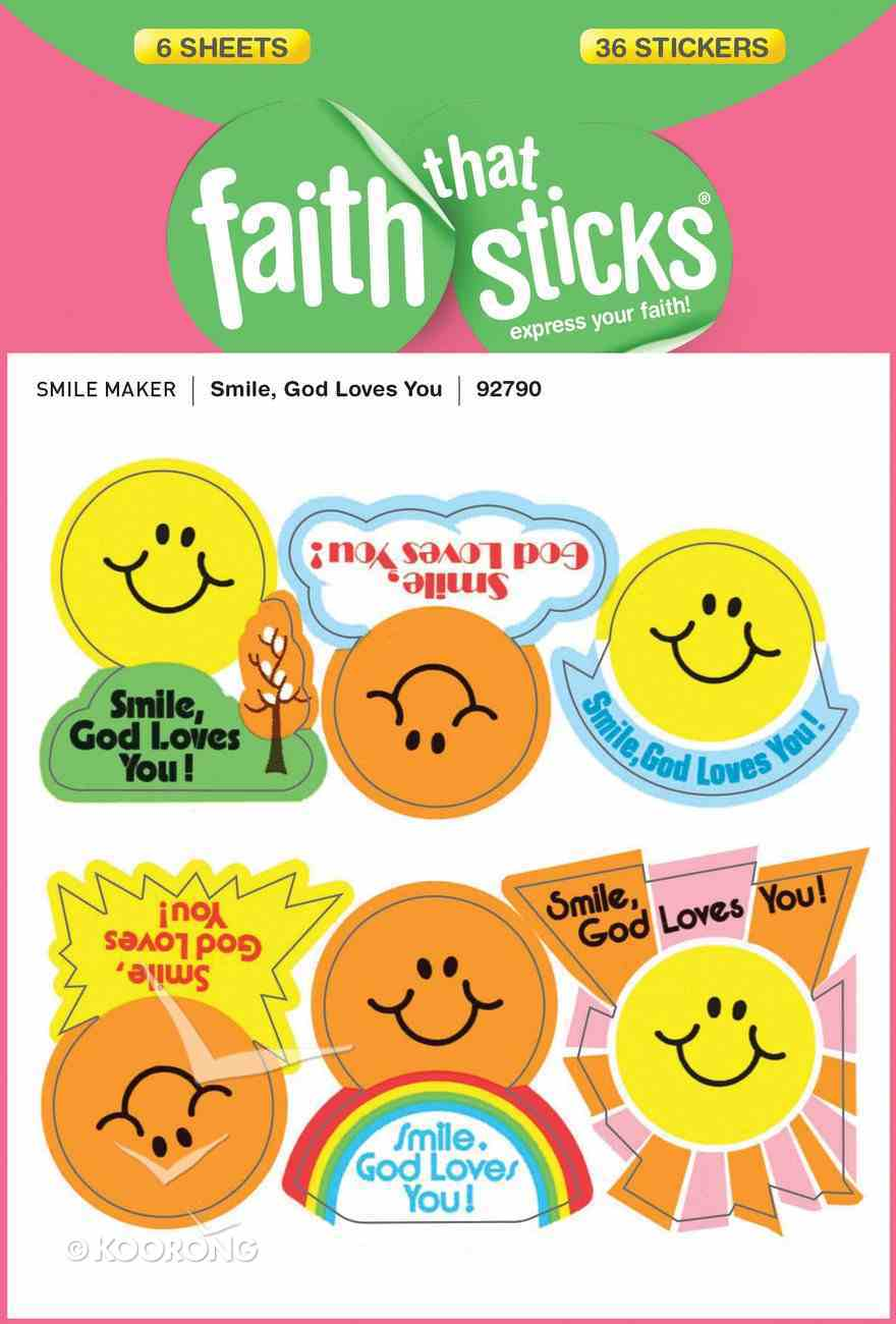 Smile, God Loves You (6 Sheets, 36 Stickers) (Stickers Faith That Sticks Series) Stickers