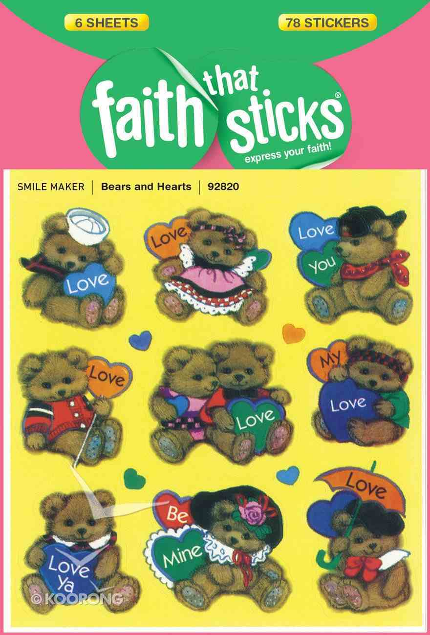 Bears and Hearts (6 Sheets, 78 Stickers) (Stickers Faith That Sticks Series) Stickers