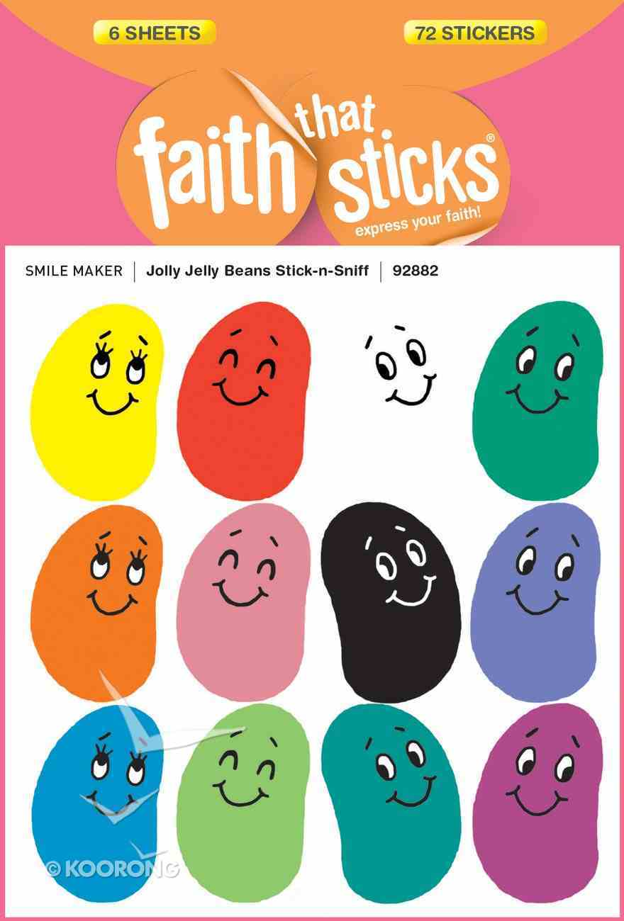 Jolly Jelly Beans Stick-N-Sniff (6 Sheets, 72 Stickers) (Stickers Faith That Sticks Series) Stickers