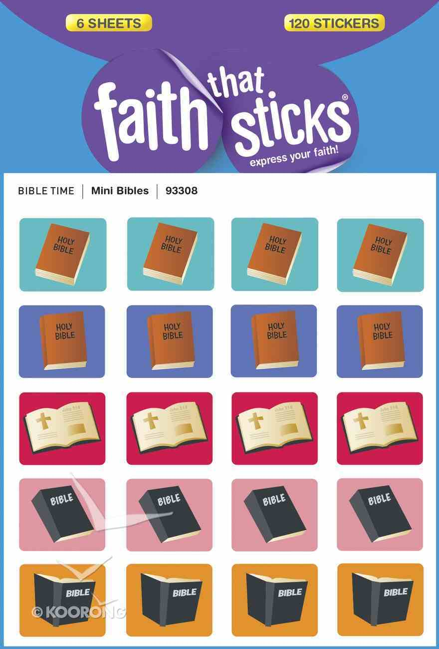 Mini Bibles (6 Sheets, 120 Stickers) (Stickers Faith That Sticks Series) Stickers