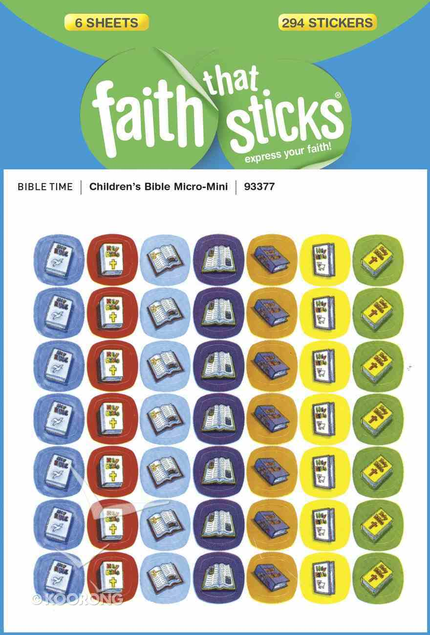 Children's Bible Micro-Mini (6 Sheets, 294 Stickers) (Stickers Faith That Sticks Series) Stickers
