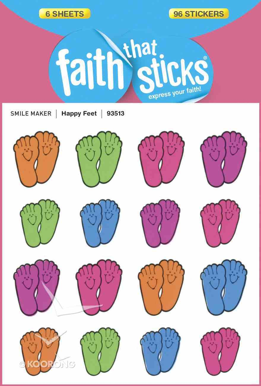 Happy Feet (6 Sheets, 96 Stickers) (Stickers Faith That Sticks Series) Stickers