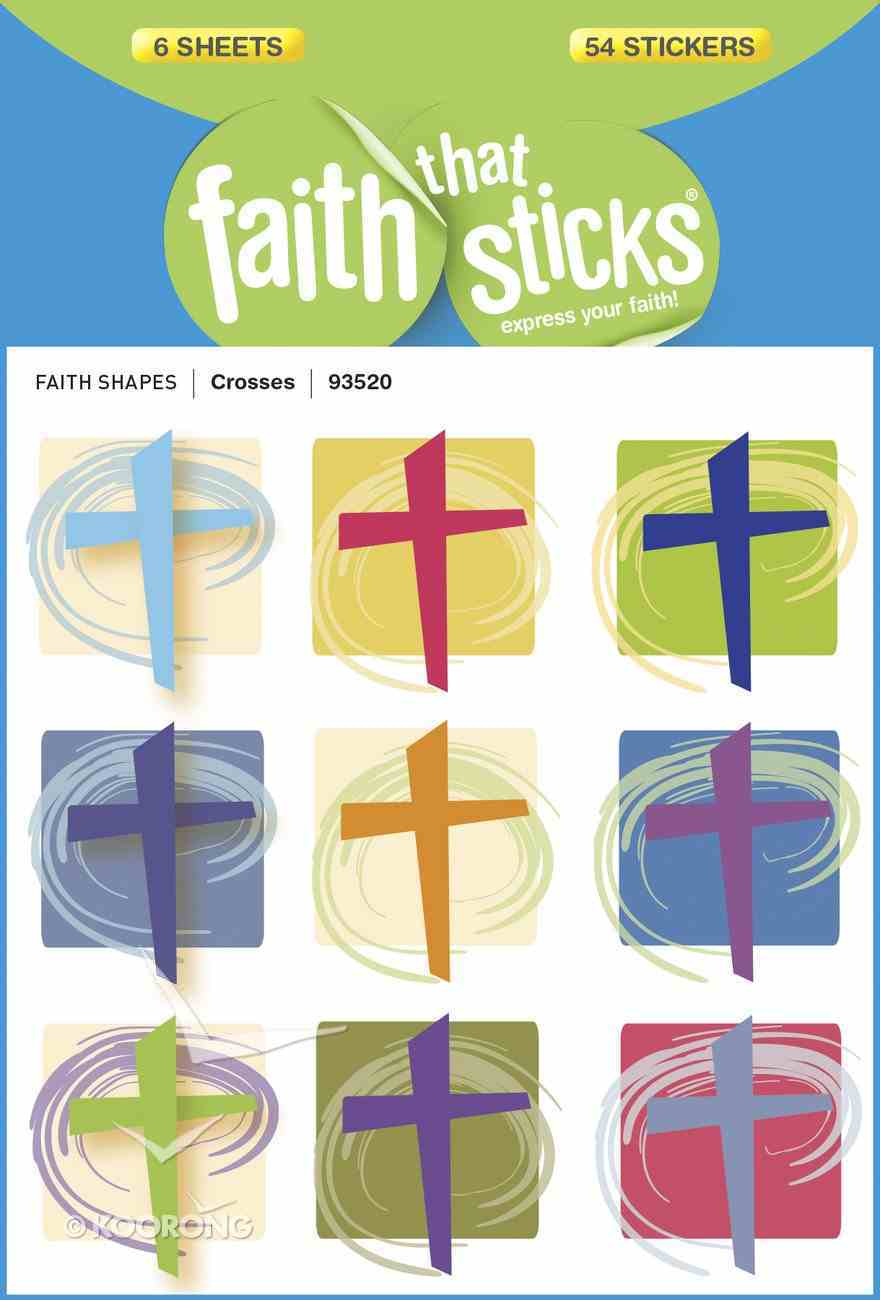 Crosses (6 Sheets, 54 Stickers) (Stickers Faith That Sticks Series) Stickers
