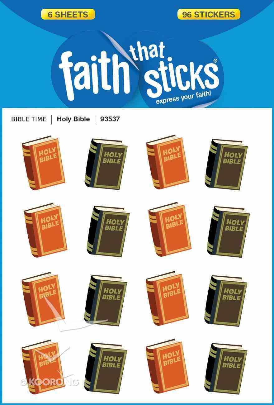 Holy Bible (6 Sheets, 96 Stickers) (Stickers Faith That Sticks Series) Stickers