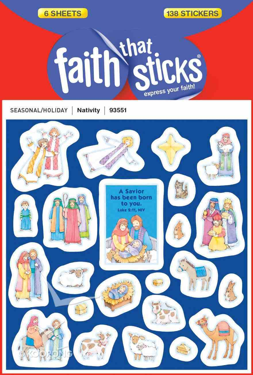 Nativity (6 Sheets, 138 Stickers) (Stickers Faith That Sticks Series) Stickers