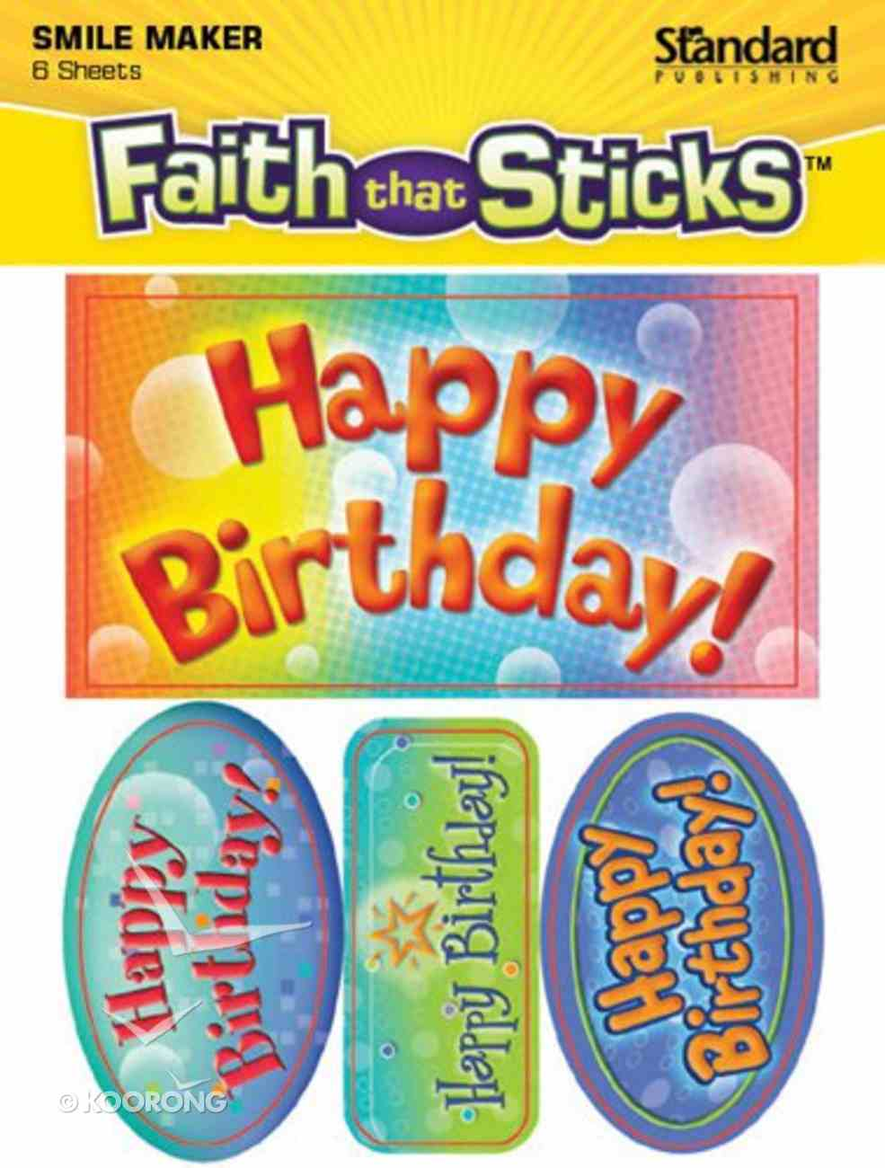 Sfts: Happy Birthday! (6 Sheets, 24 Stickers) Stickers