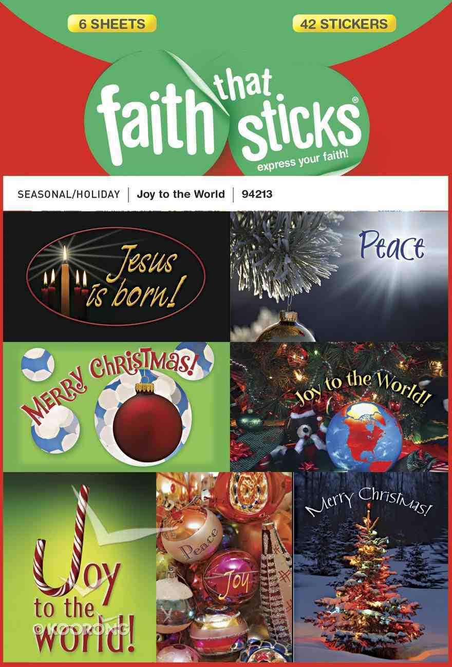 Joy to the World (6 Sheets) (Stickers Faith That Sticks Series) Stickers