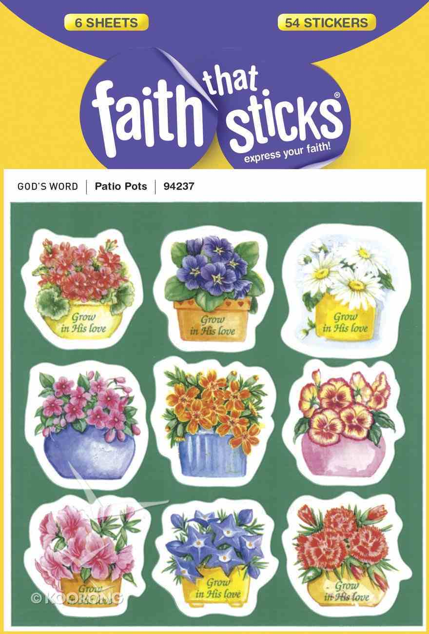 Patio Pots (6 Sheets, 54 Stickers) (Stickers Faith That Sticks Series) Stickers