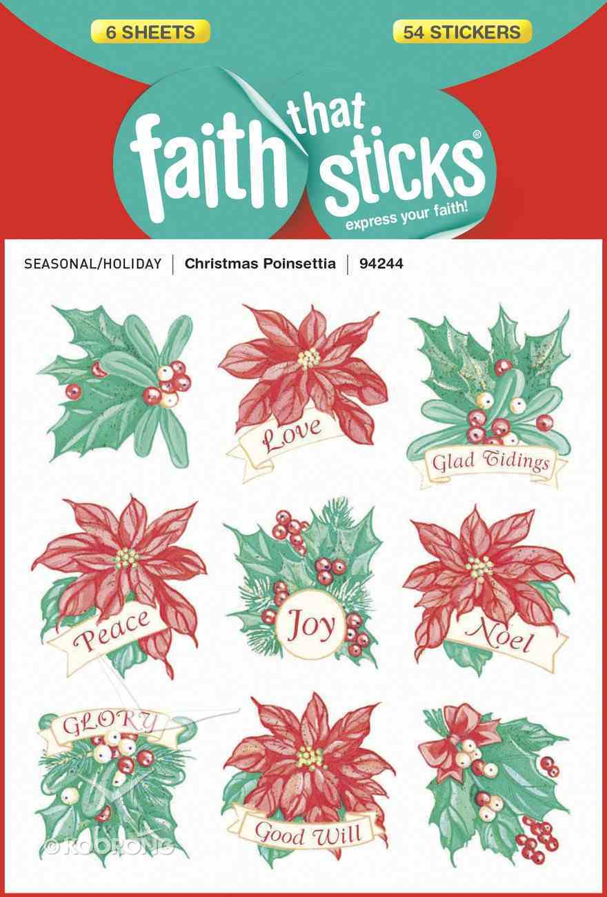 Christmas Poinsettia (6 Sheets, 54 Stickers) (Stickers Faith That Sticks Series) Stickers
