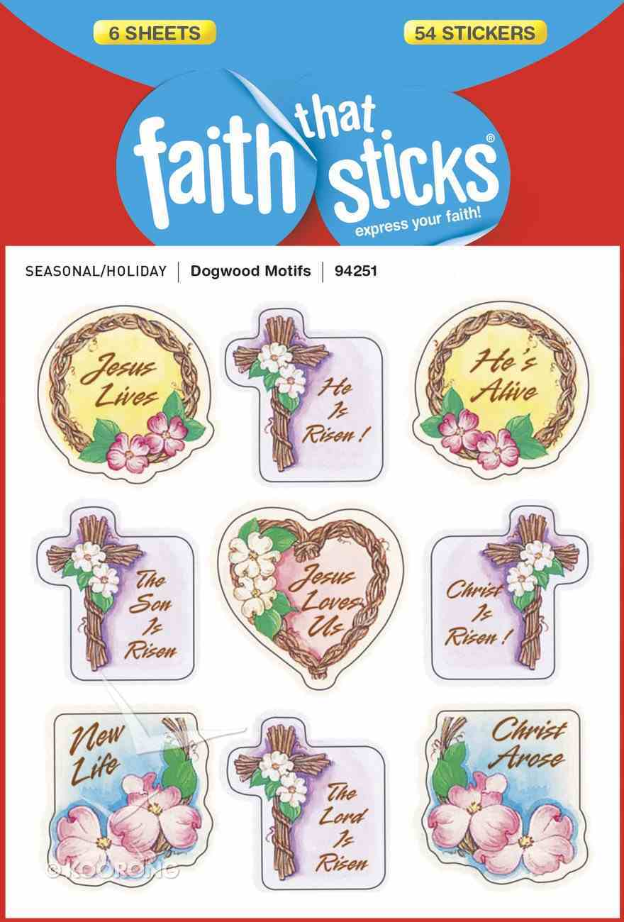 Dogwood Motifs (6 Sheets, 54 Stickers) (Stickers Faith That Sticks Series) Stickers