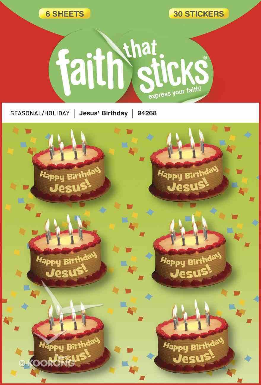 Jesus' Birthday (6 Sheets) (Stickers Faith That Sticks Series) Stickers