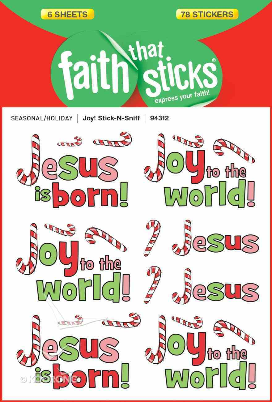 Joy! Stick-N-Sniff (6 Sheets, 78 Stickers) (Stickers Faith That Sticks Series) Stickers