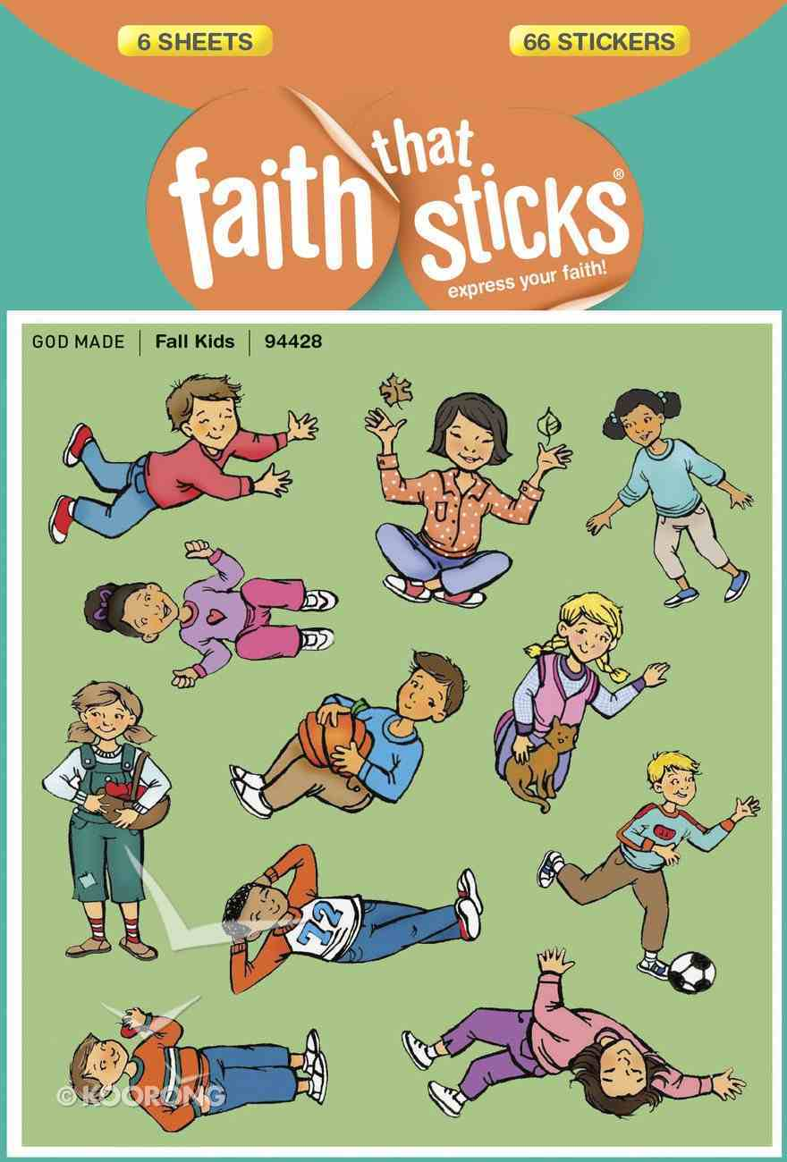 Fall Kids (6 Sheets, 66 Stickers) (Stickers Faith That Sticks Series) Stickers