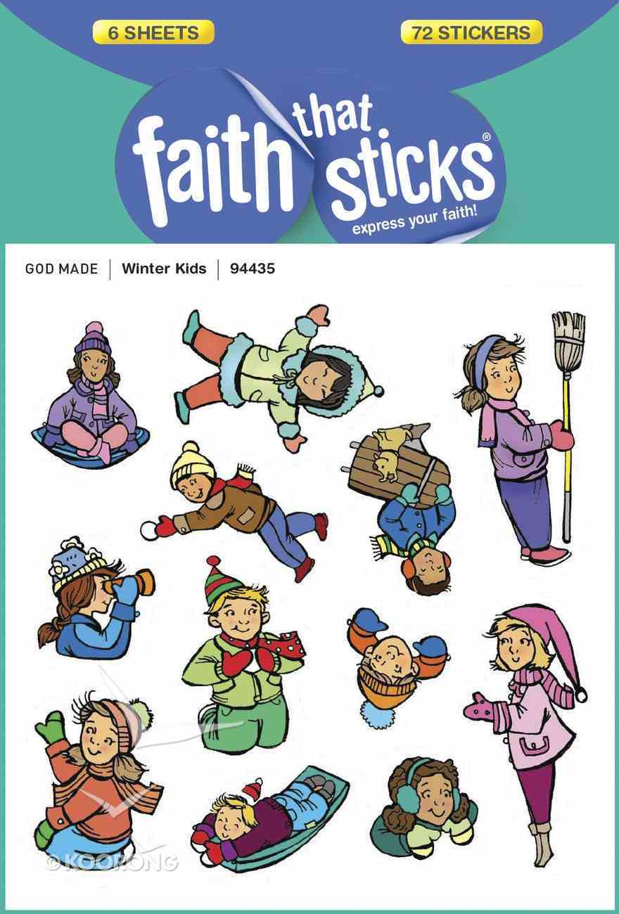 Winter Kids (6 Sheets, 72 Stickers) (Stickers Faith That Sticks Series) Stickers