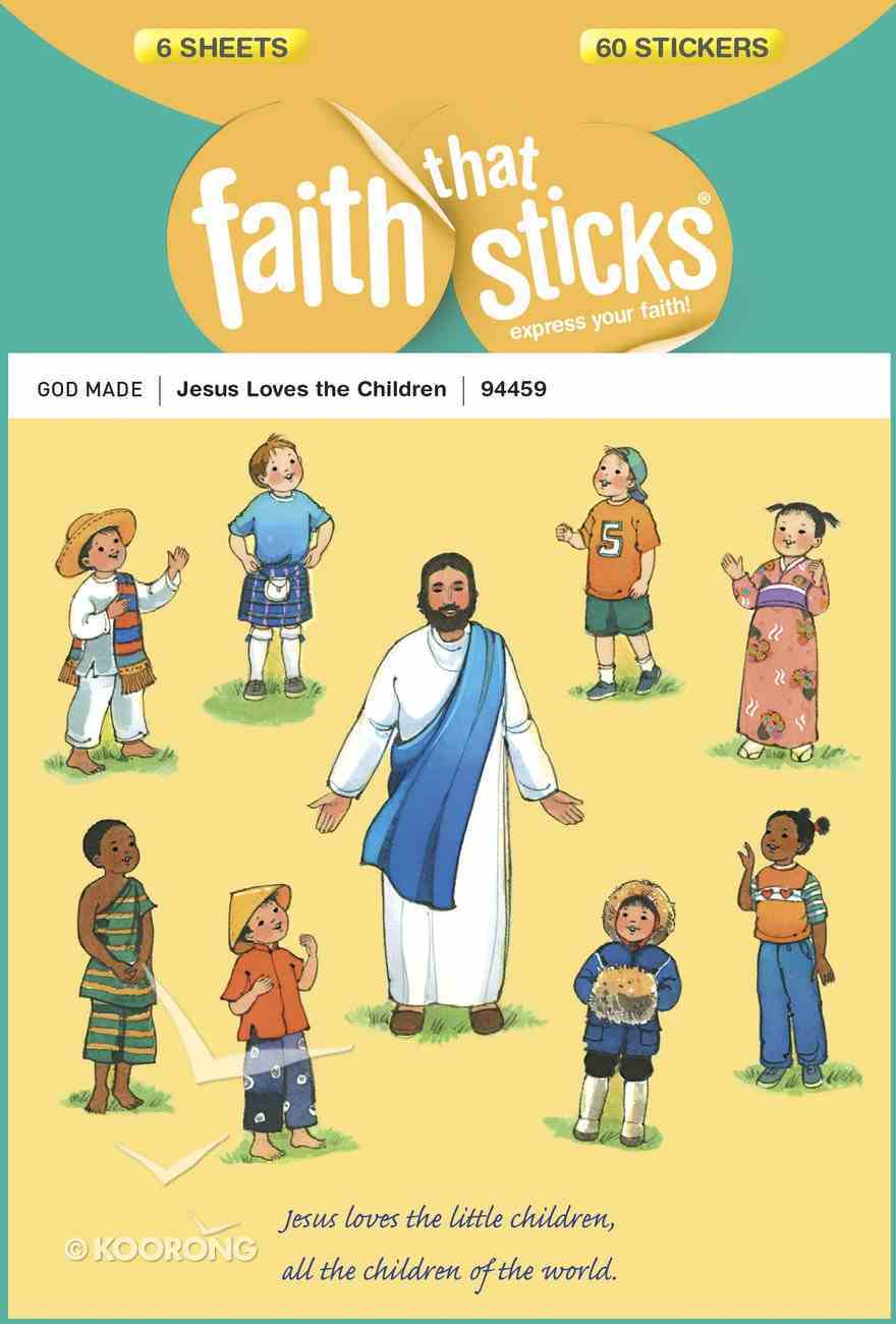 Jesus Loves the Children (6 Sheets, 60 Stickers) (Stickers Faith That Sticks Series) Stickers