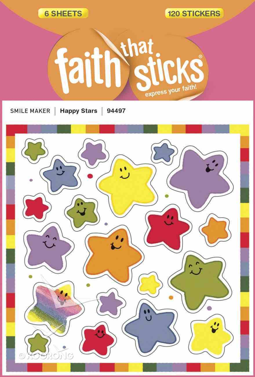 Happy Star (6 Sheets, 120 Stickers) (Stickers Faith That Sticks Series) Stickers