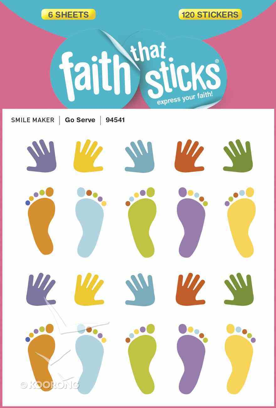 Go Serve (6 Sheets, 120 Stickers) (Stickers Faith That Sticks Series) Stickers