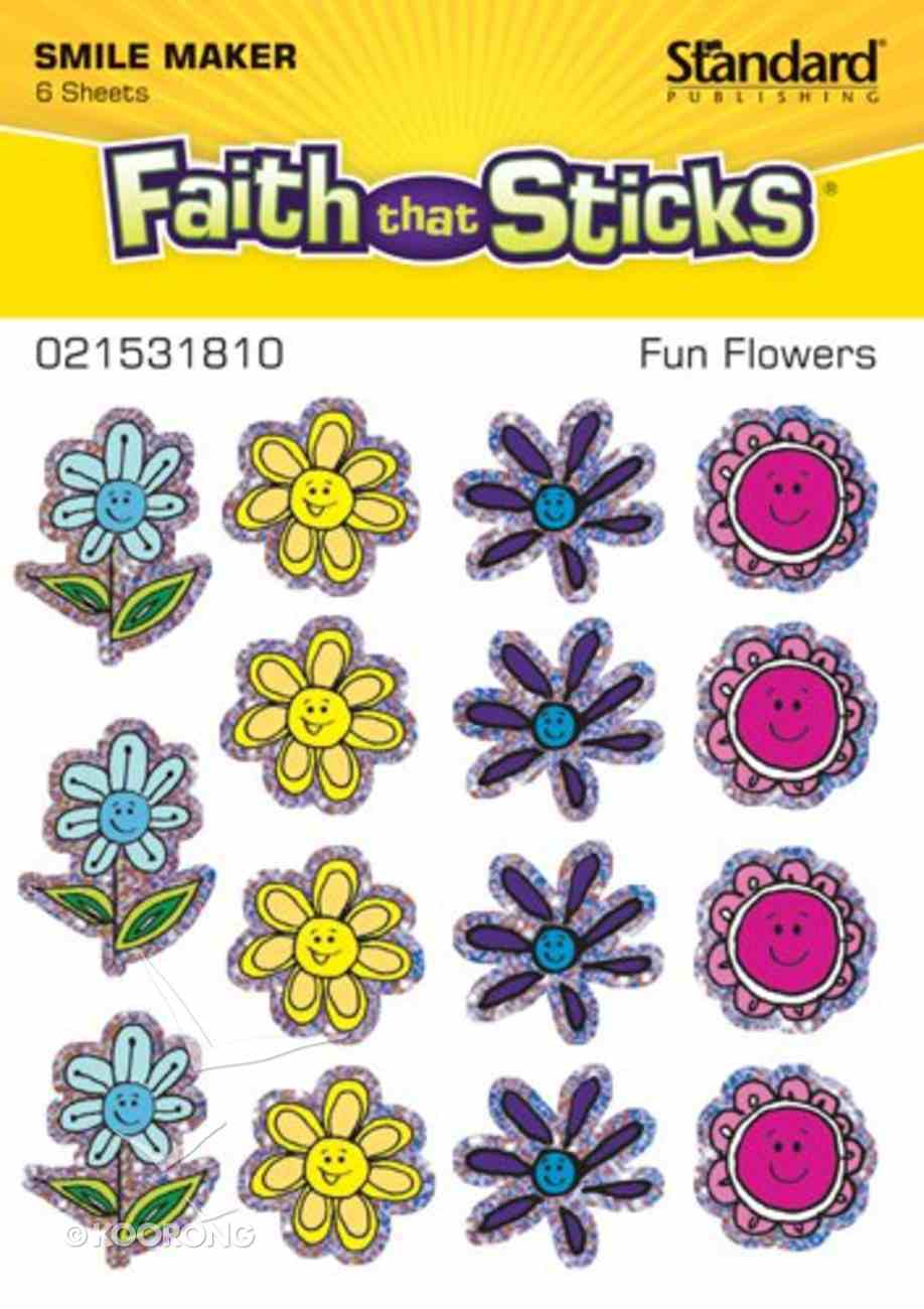 Fun Flowers (6 Sheets, 90 Stickers) (Stickers Faith That Sticks Series) Stickers