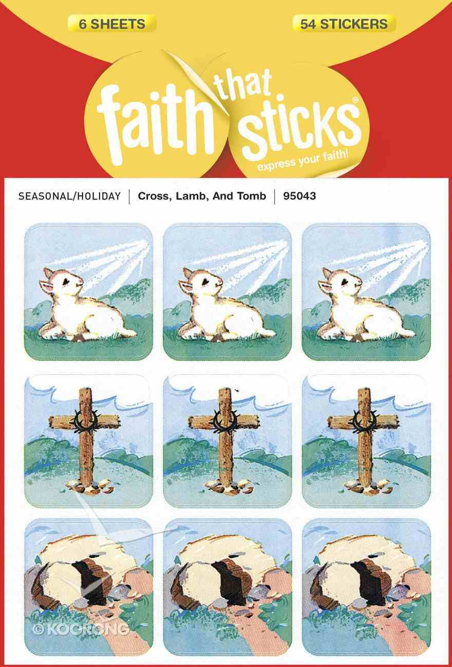 Cross, Lamb, and Tomb (6 Sheets, 54 Stickers) (Stickers Faith That Sticks Series) Stickers