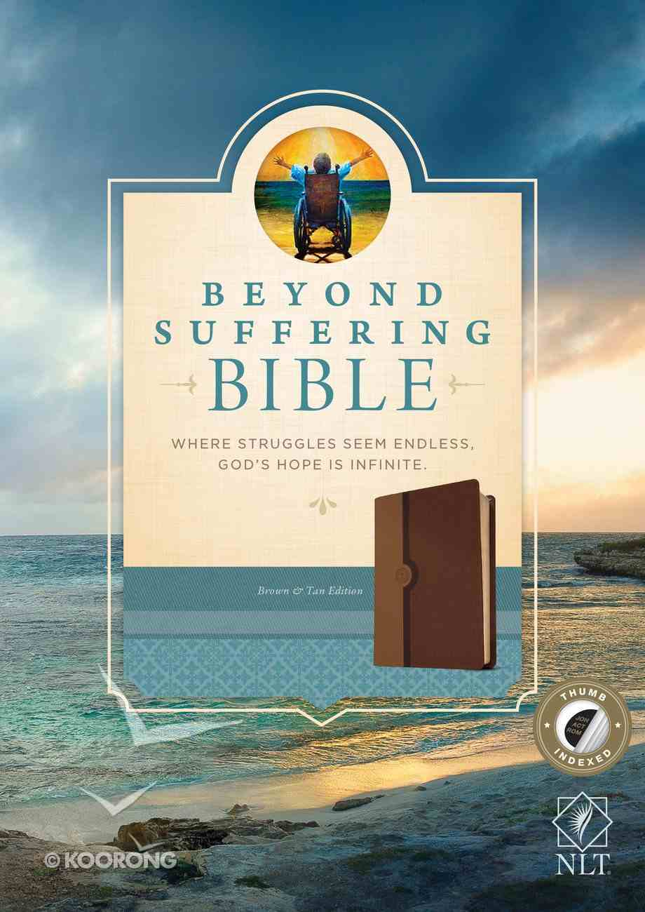 NLT Beyond Suffering Study Bible Indexed Brown (Black Letter Edition) Imitation Leather