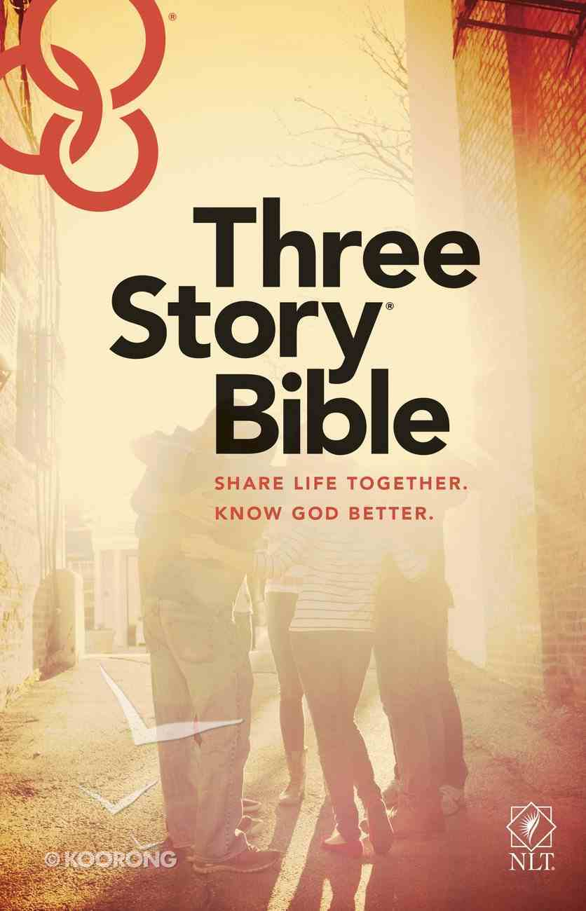 NLT Three Story Bible (Black Letter Edition) Paperback