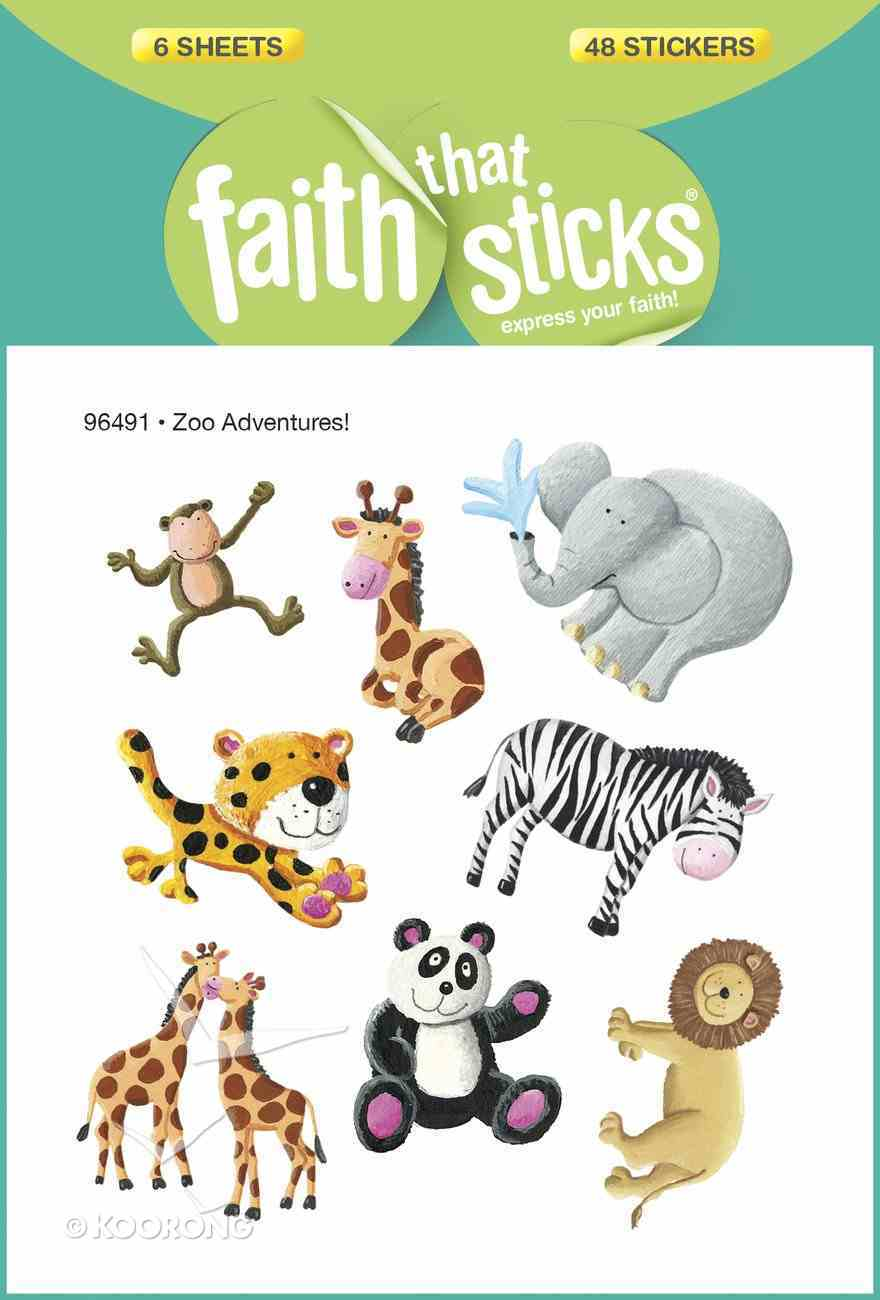 Zoo Adventures! (6 Sheets, 48 Stickers) (Stickers Faith That Sticks Series) Stickers