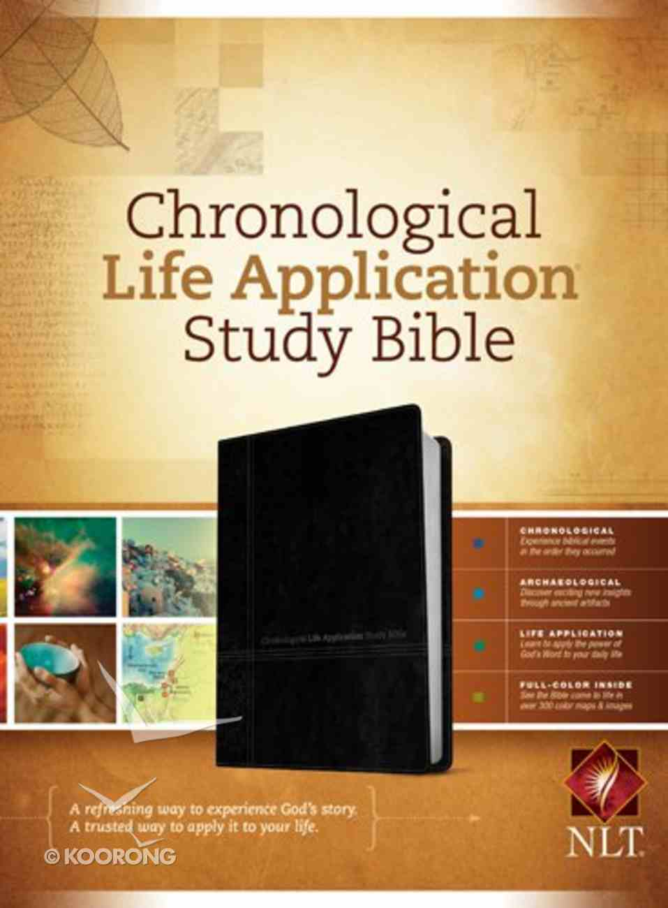 NLT Chronological Life Application Study Bible Black/Onyx (Black Letter Edition) Imitation Leather