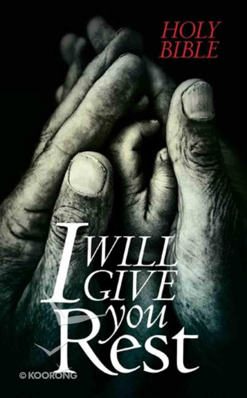 NLT I Will Give You Rest Bible (Black Letter Edition) Paperback