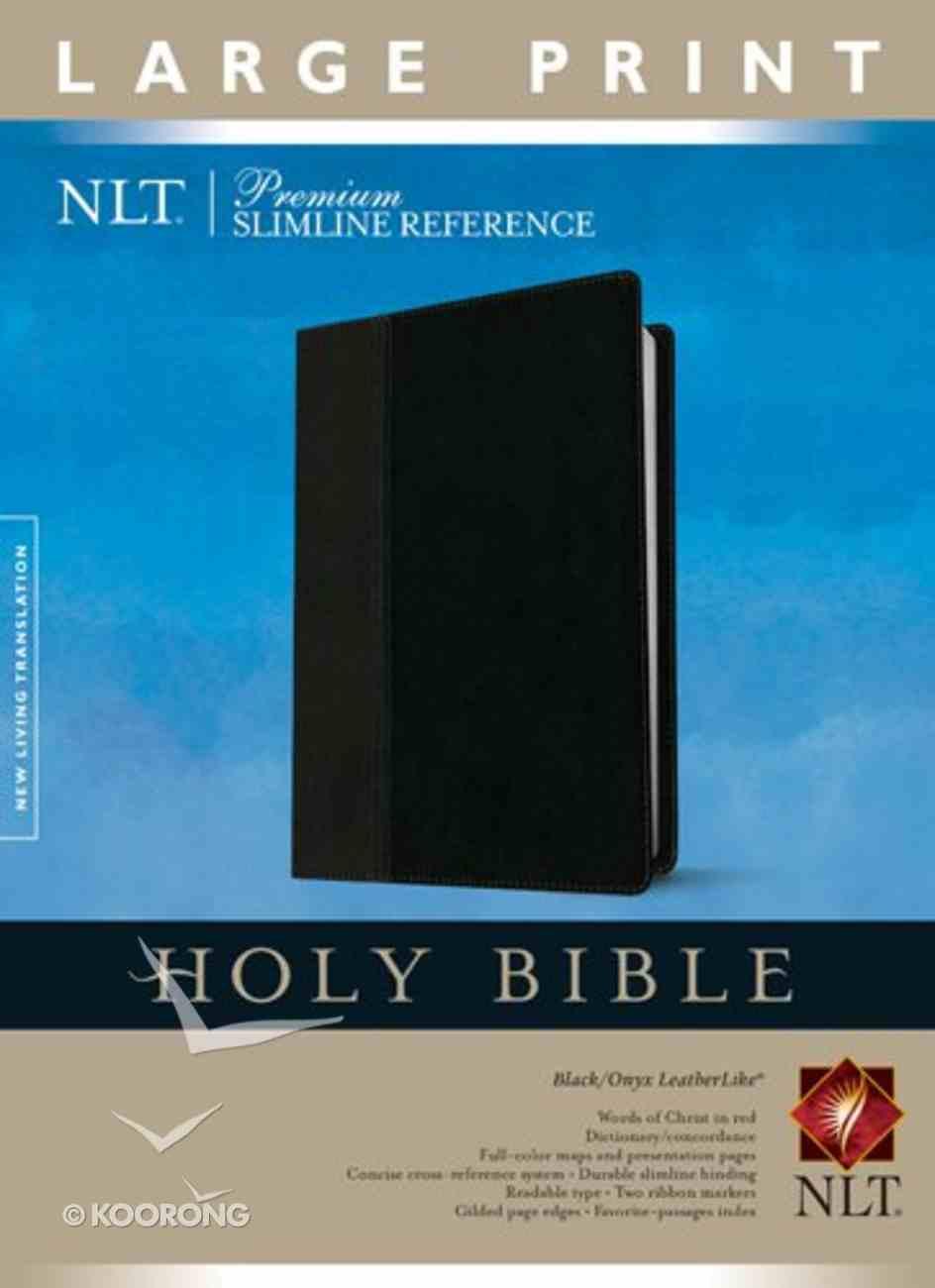 NLT Premium Slimline Reference Large Print Black/Onyx (Red Letter Edition) Imitation Leather