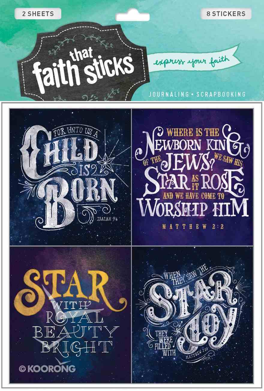 Christmas Greetings (2 Sheets, 8 Stickers) (Stickers Faith That Sticks Series) Stickers
