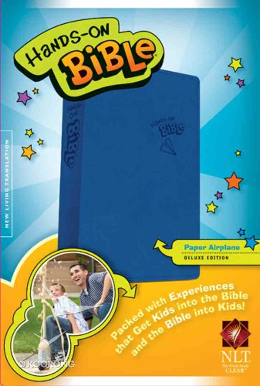 NLT Hands-On Bible Blue Airplane (Black Letter Edition) Imitation Leather
