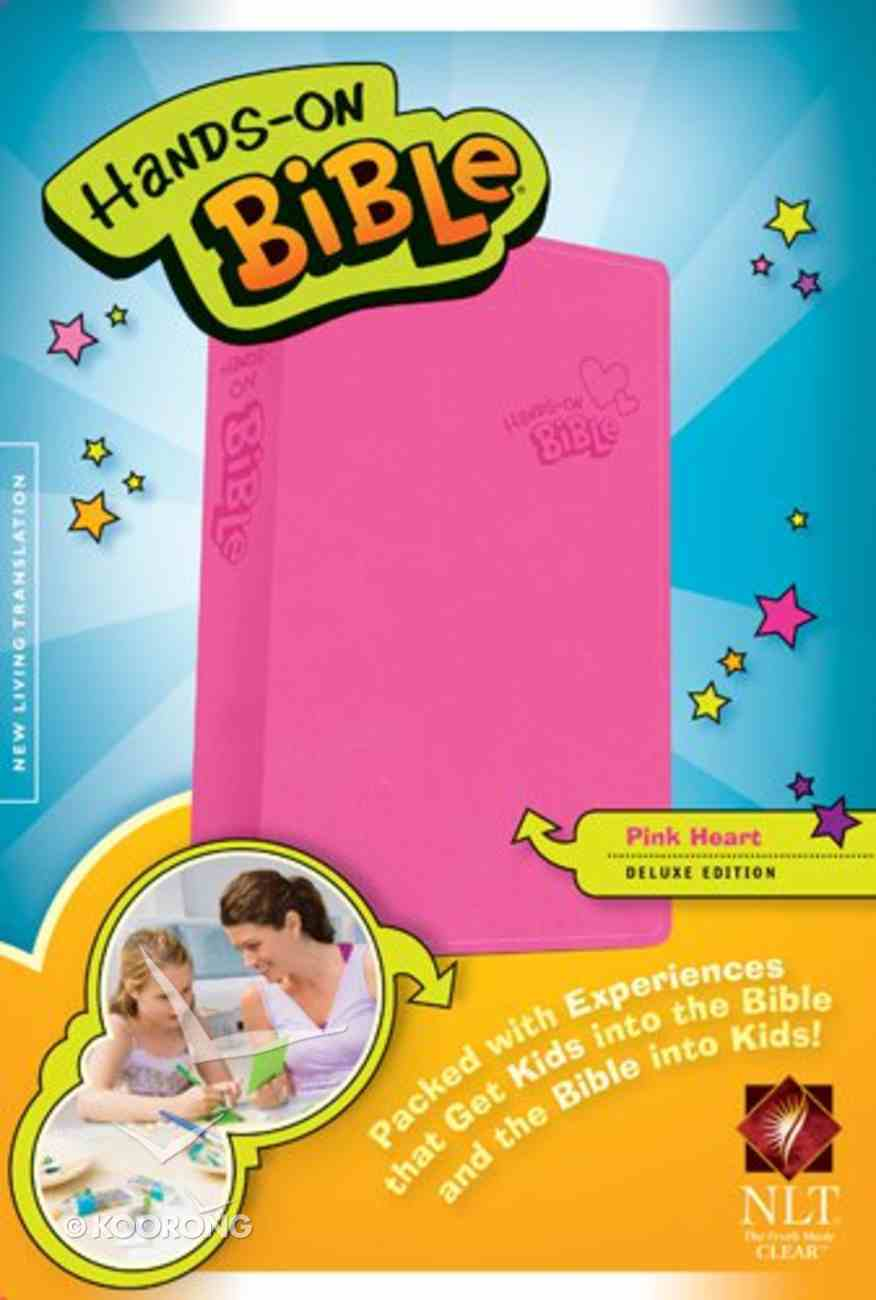 NLT Hands-On Bible Pink Heart (Black Letter Edition) Imitation Leather
