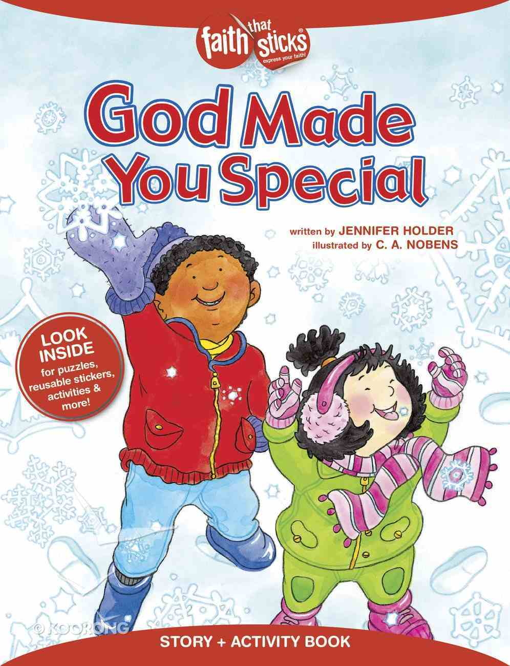 God Made You Special (Incl. Stickers & Puzzles) (Faith That Sticks Story & Activity Book Series) Paperback
