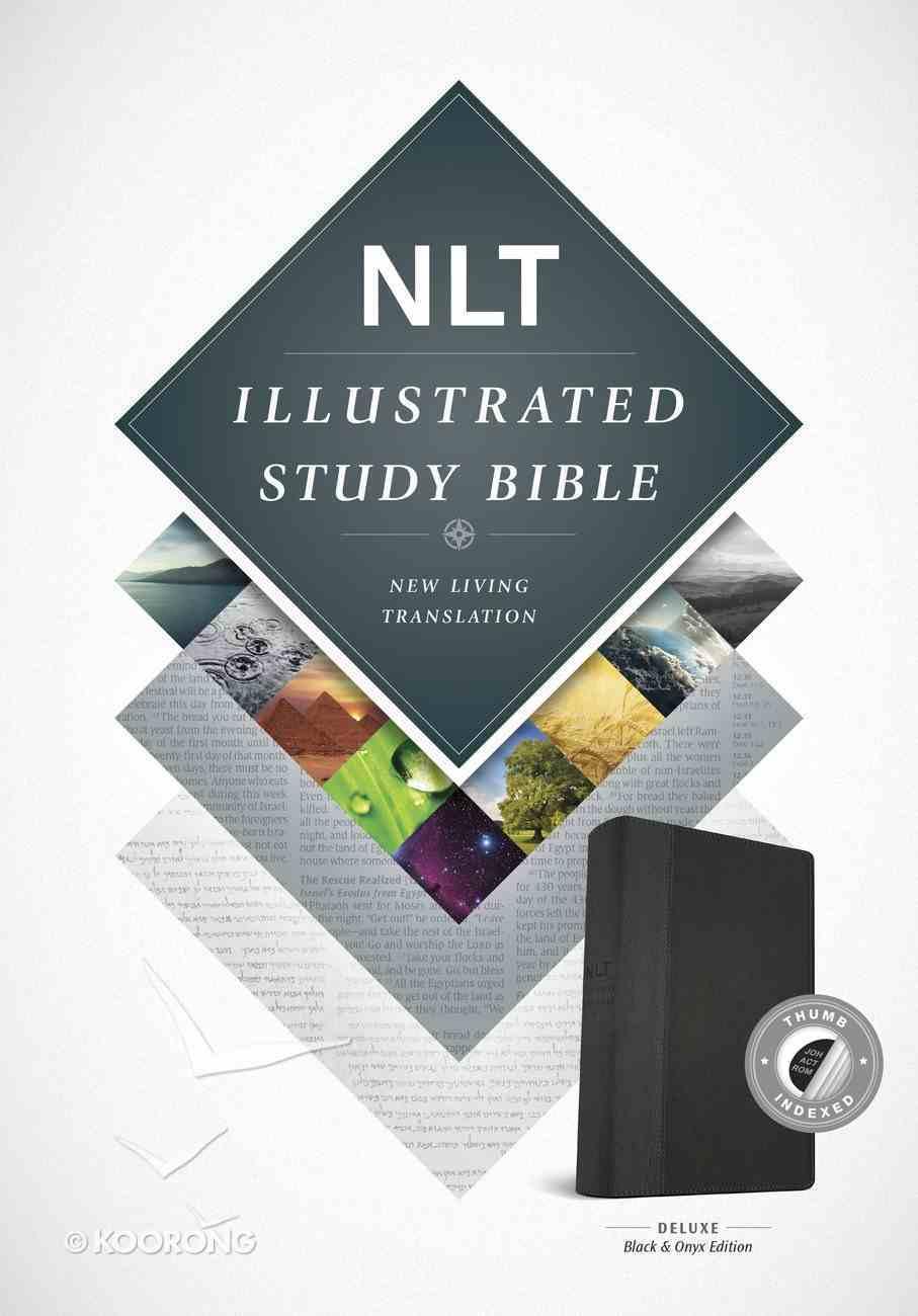 NLT Illustrated Study Bible Black/Onyx Indexed (Black Letter Edition) Imitation Leather