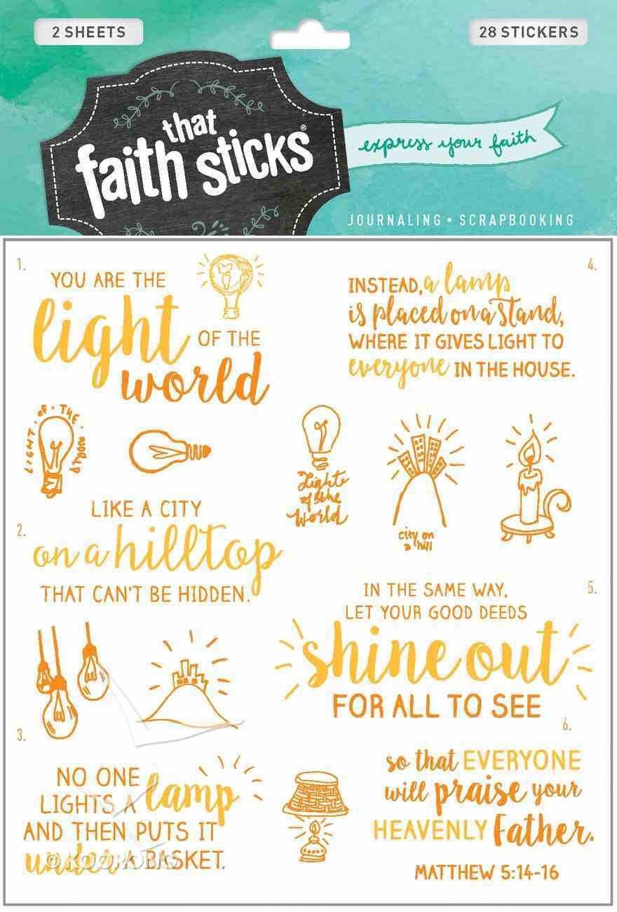 Matthew 5: 14-16 (2 Sheets, 28 Stickers) (Stickers Faith That Sticks Series) Stickers