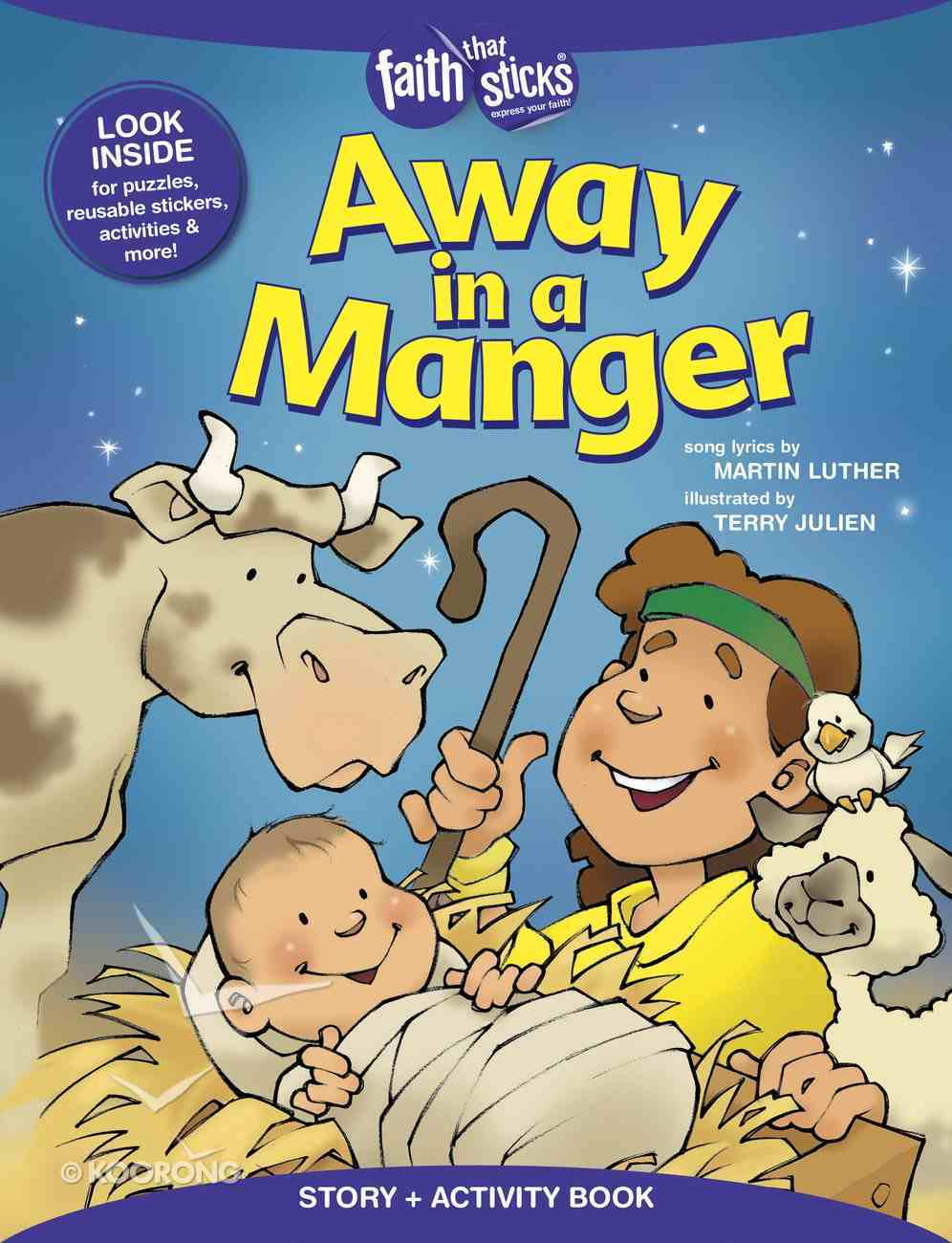 Away in a Manger (Incl. Stickers & Puzzles) (Faith That Sticks Story & Activity Book Series) Paperback
