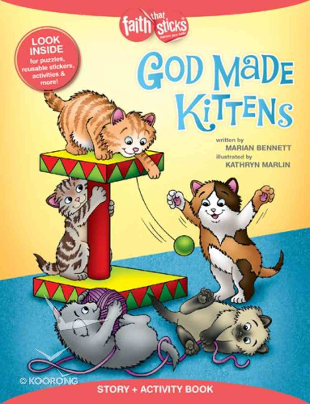 God Made Kittens (Incl. Stickers & Puzzles) (Faith That Sticks Story & Activity Book Series) Paperback