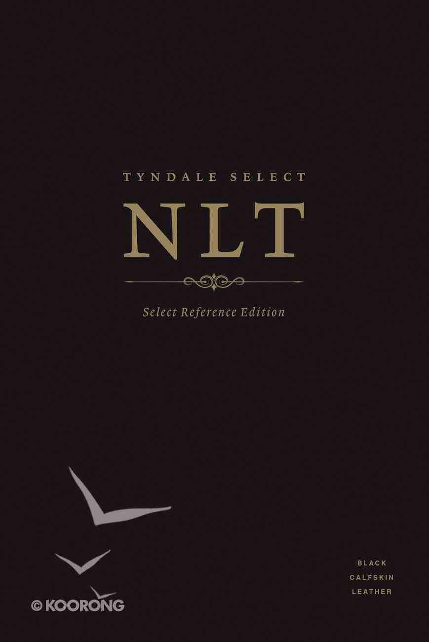NLT Select Reference Edition Indexed Black (Black Letter Edition) Genuine Leather