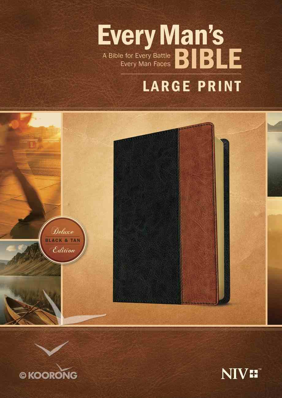 NIV Every Man's Bible Large Print (Black Letter Edition) Imitation Leather