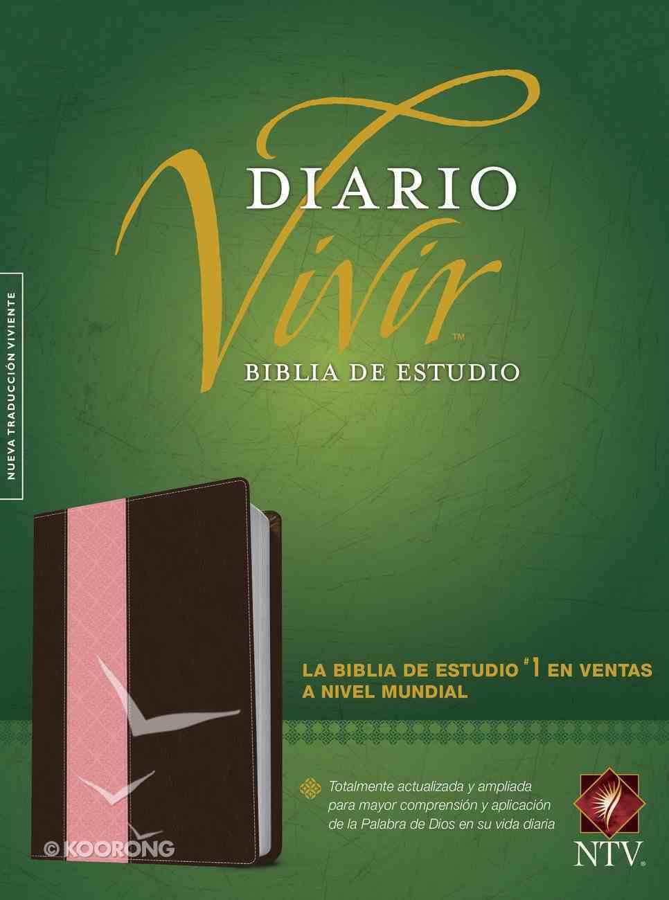Ntv Biblia De Estudio Del Diario Vivir Indexed Pink/Brown (Red Letter Edition) Imitation Leather