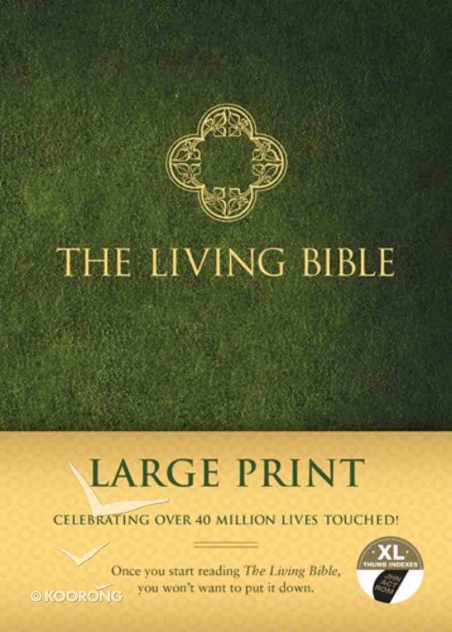 Lbp Living Bible Large Print Indexed Green (Black Letter Edition) Padded Hardback