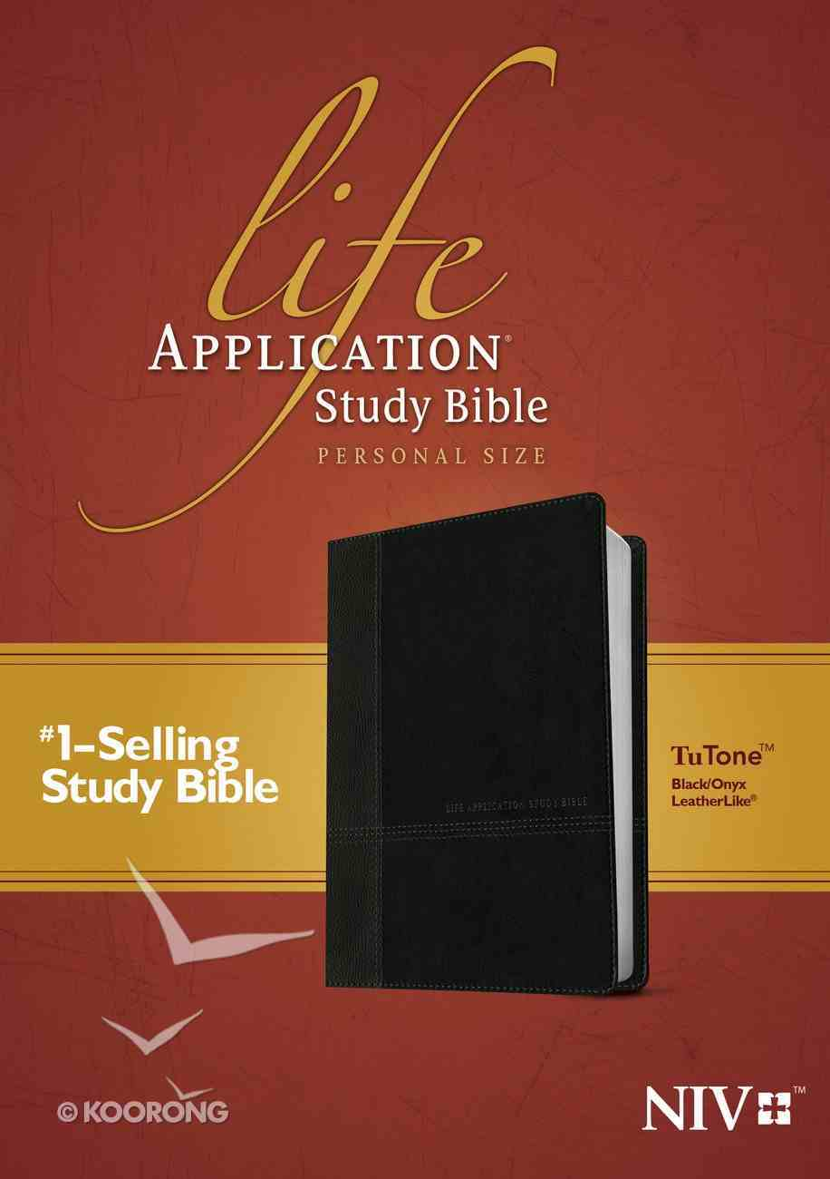 NIV Life Application Study Bible Personal Size Black/Onyx (Black Letter Edition) Imitation Leather