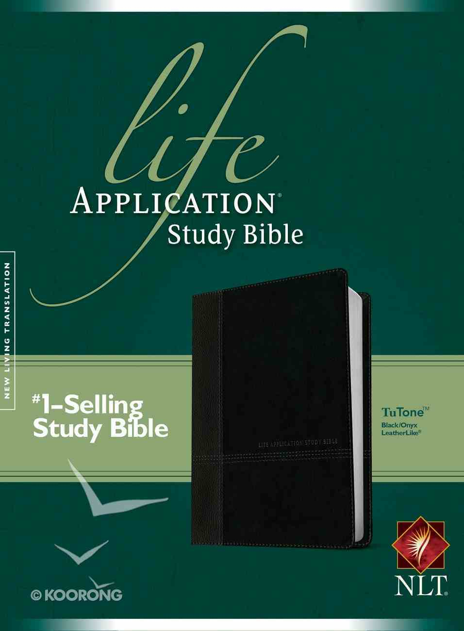 NLT Life Application Study Bible Black/Onyx (Red Letter Edition) Imitation Leather