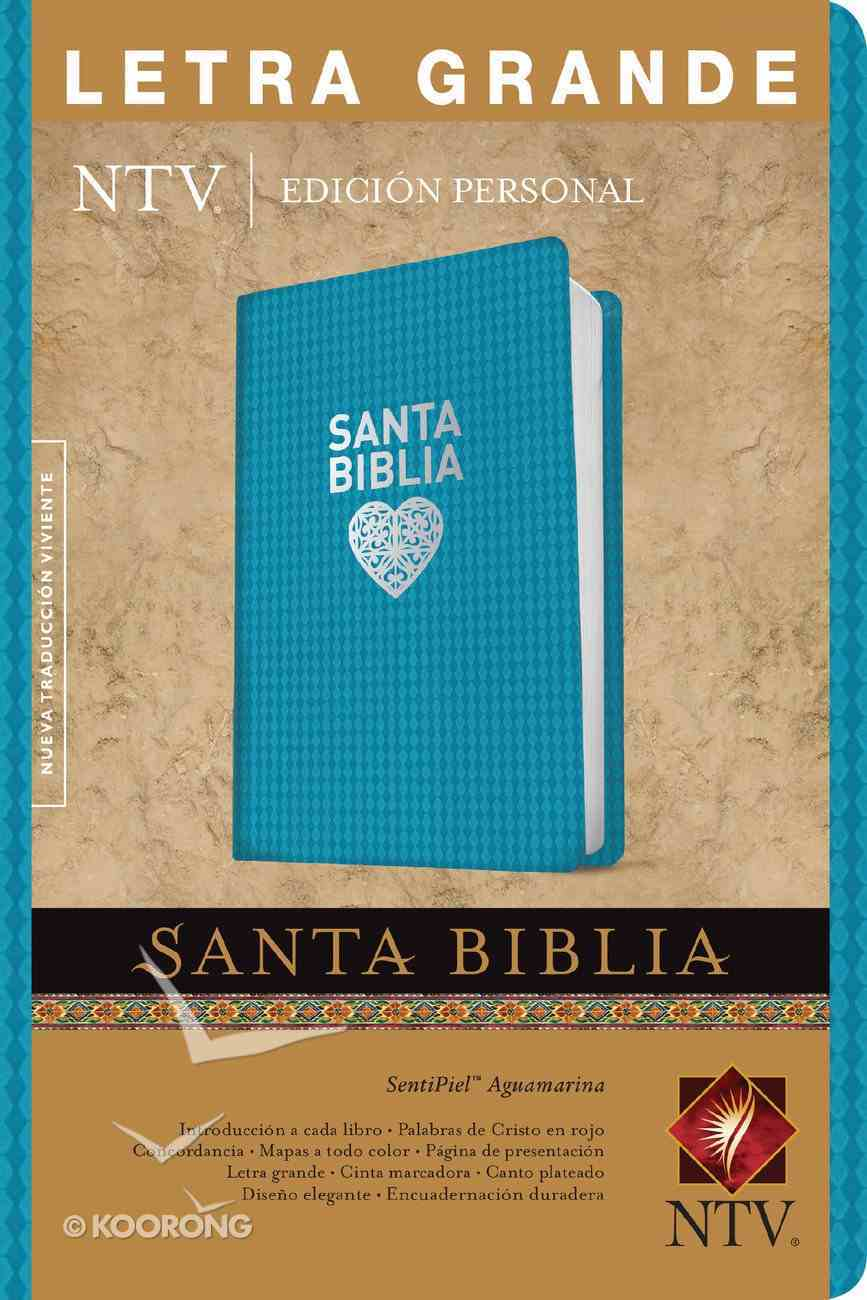 Ntv Santa Biblia Edicion Personal Letra Grande Aqua (Red Letter Edition) (Personal Size, Large Print) Imitation Leather