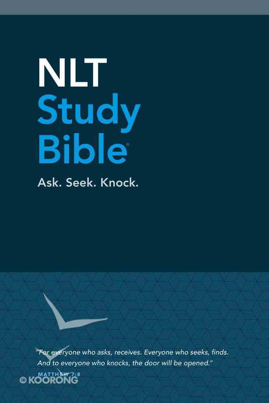 NLT Study Bible Blue (Red Letter Edition) Hardback