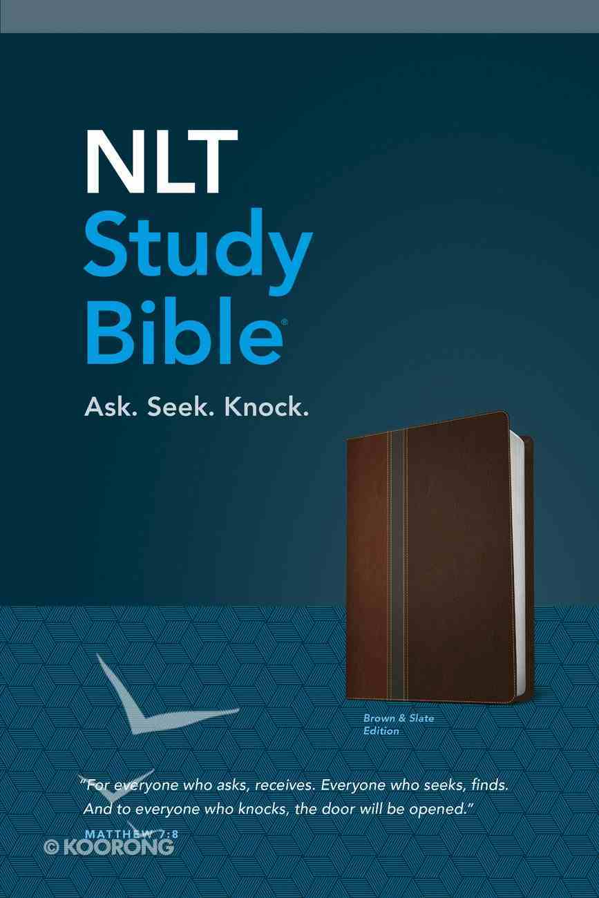 NLT Study Bible Brown/Slate (Red Letter Edition) Imitation Leather