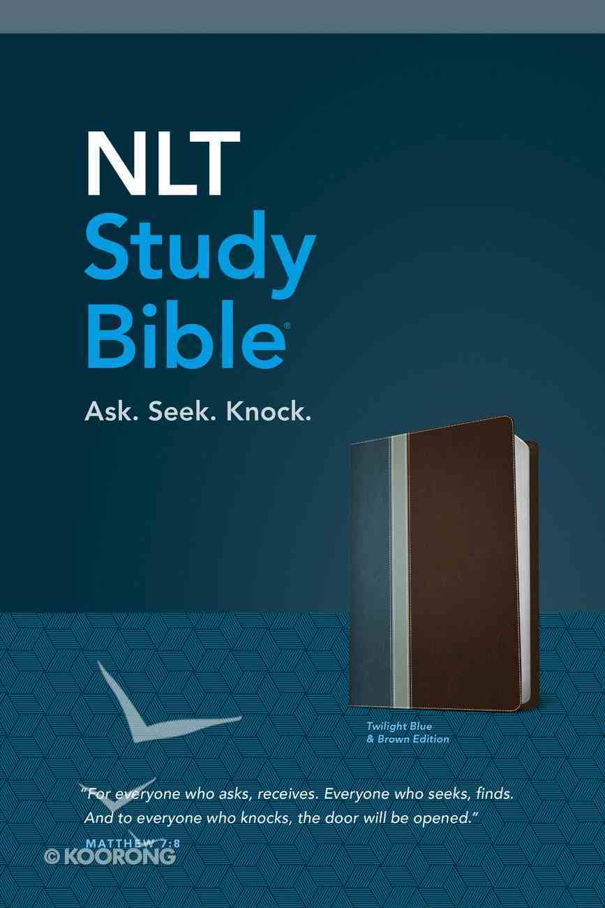 NLT Study Bible Twilight Blue/Brown (Red Letter Edition) Imitation Leather