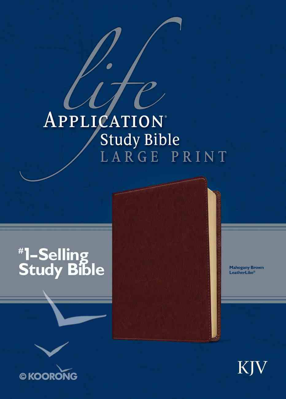 KJV Large Print Life Application Study Bible Brown (Red Letter Edition) Imitation Leather